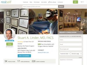 Dr. Stuart Linder, Realself Profile