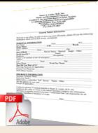 Dr. Linder's Patient Form