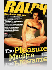 Ralph Magazine w/ black hair model wearing yellow corset - The Pleasure Machine