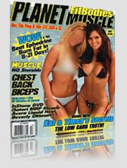 Planet Muscle Magazine Cover brunette & blonde in bikini