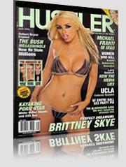 Brittney Skye Hustler Magazine cover wearing small bikini